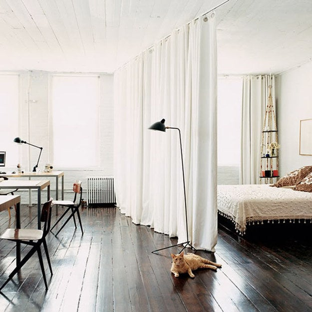 Got one wide open room? Make it into two without committing!