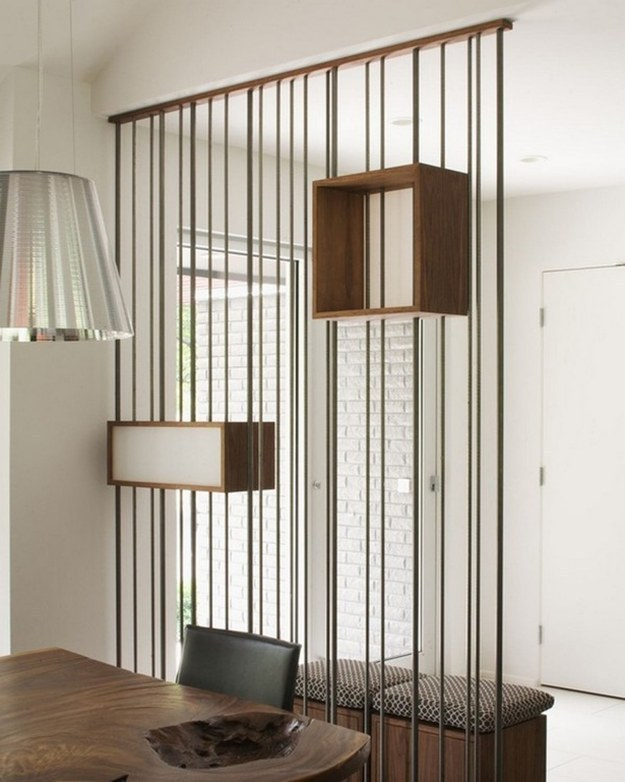 Use room dividers in place of walls.