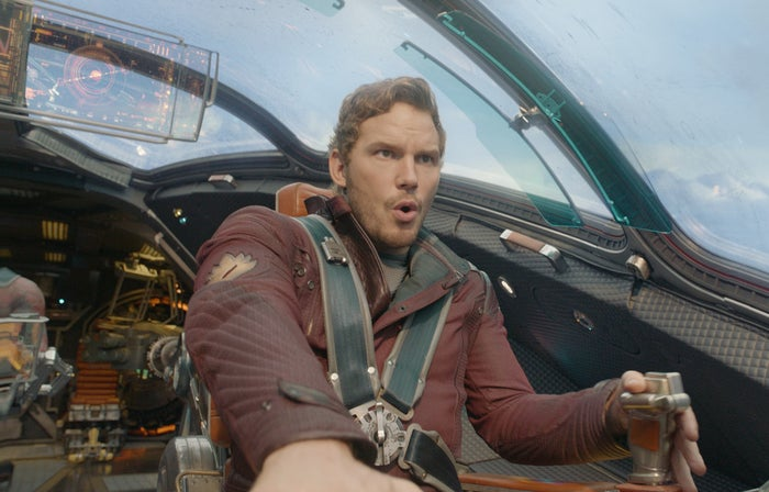 Chris Pratt in Guardians of the Galaxy.