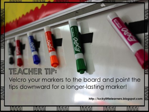 Here's how you keep your markers lasting as long as possible: