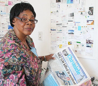 """Born when Zimbabwe was a British colony called Rhodesia, Edna Machirori became the first black female editor of a Zimbabwean newspaper, rising through the ranks despite thorny media and political climates and a deeply patriarchal culture. """"Throughout my career, I have struggled against gender prejudice,"""" Machirori says. """"In a patriarchal society and a profession in which national issues must be debated objectively, the willingness to do so is not necessarily seen as a plus for a woman. Such a woman is seen as an aberration from the norm of what a woman should be: docile and silent."""""""