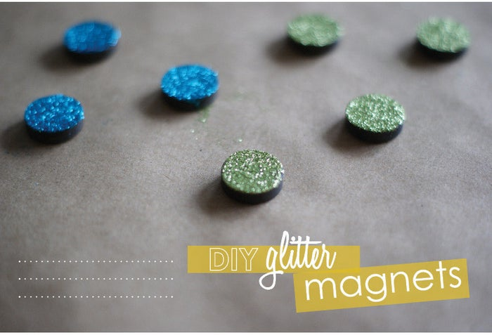 These DIY glitter magnets will bring a little pizzazz to your school hallway every time you open your locker. Find the tutorial here.