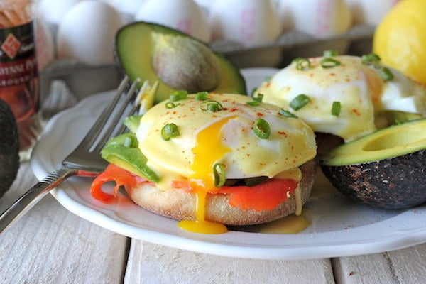 This version is a much lighter start to your day than a traditional eggs benedict, and the combination of avocado and smoked salmon is terrific. Get more info at Damn Delicious.
