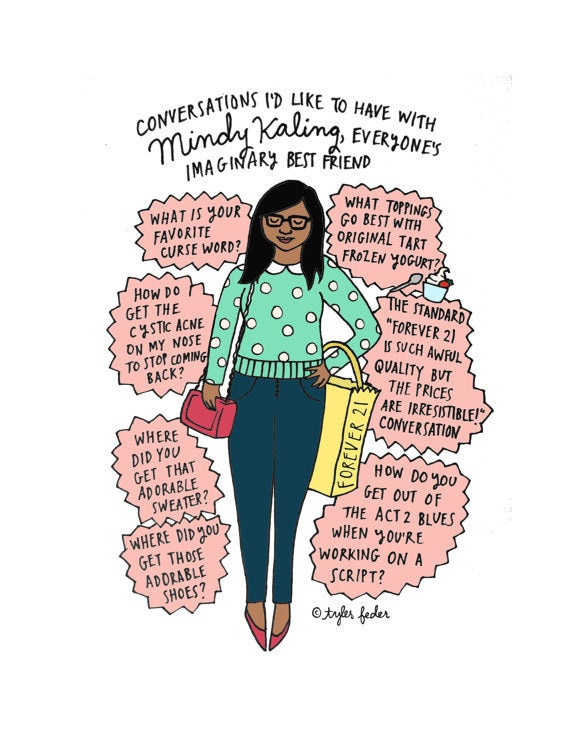 """Because like everyone wants to have the standard Forever 21 is such awful quality but the prices are irresistable!"""" conversation with Mindy. Buy it here."""