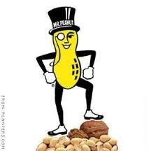 Sporting a top hat, monocle, white gloves, spats, and a cane- Mr. Peanut is one dapper nut who needs no help coming out of his shell. Mr. Peanut was created in 1916 by a 14 year old boy who won a contest to create a mascot for the company. His drawing was later gussied up by an artist and has remained mostly the same since.