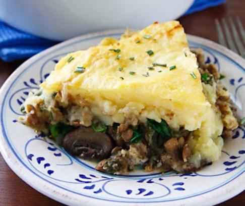 Lentil and Mushroom Shepherd's Pie