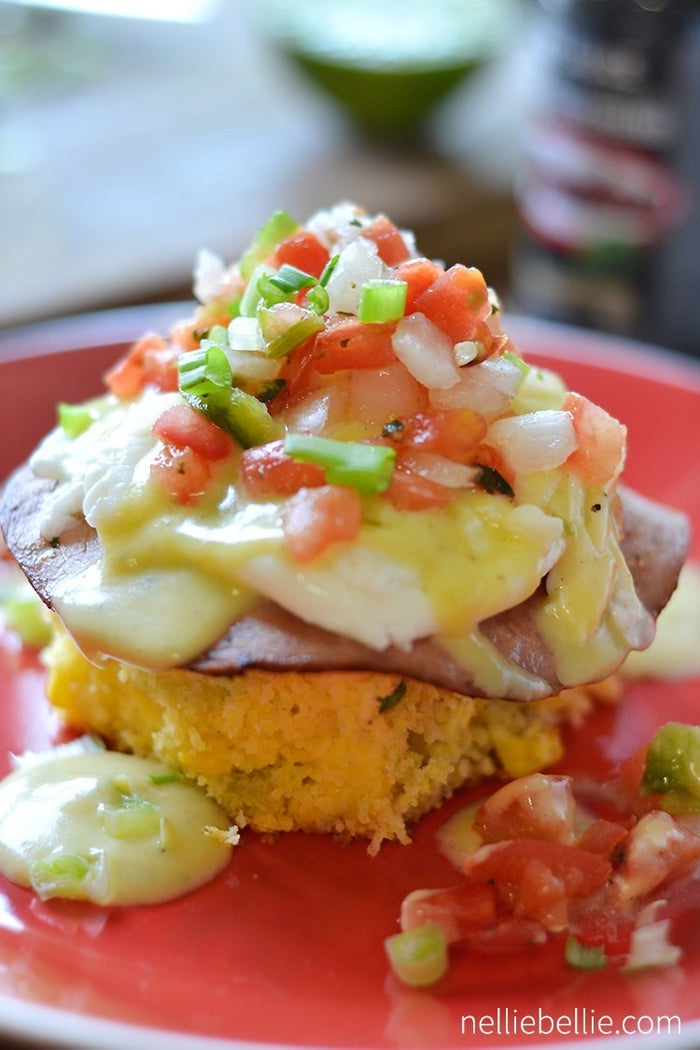 There are a number of Tex Mex Eggs Benedict versions out there...but NellieBellie definitely has the best. Cornbread...pico de gallo, and specialty hollandaise!!!