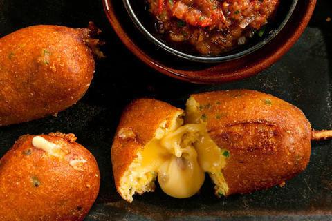 "Jalapeño-Cheese Corn ""Dogs"""