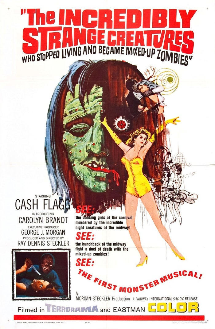 """The original title was going to be """"The Incredibly Strange Creatures, or Why I Stopped Living and Became a Mixed-up Zombie"""". The movie was advertised as """"The First Monster Musical"""", only just beating """"The Horror Of Party Beach"""" by just one month."""