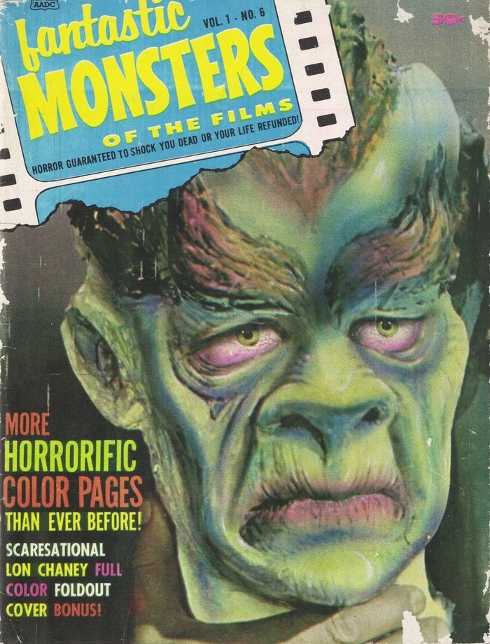 Cover of 'Fantastic Monster Of The Films' featuring an article about the movie, which can be read on the Weird Retro facebook page.