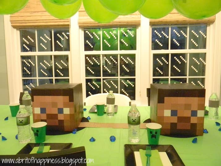 31 diy birthday party ideas that will blow your minecraft dont forget to minecraft your windows solutioingenieria