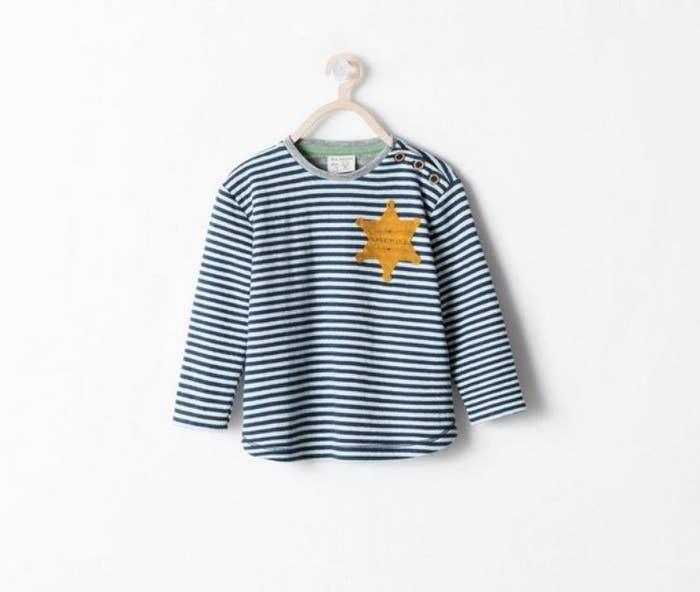 4. Mais Urban Outfitters n est pas la seule marque à avoir dérapé. En août  2014, Zara retirait de la vente son t-shirt rayé portant une étoile jaune. 1f11a24a2657