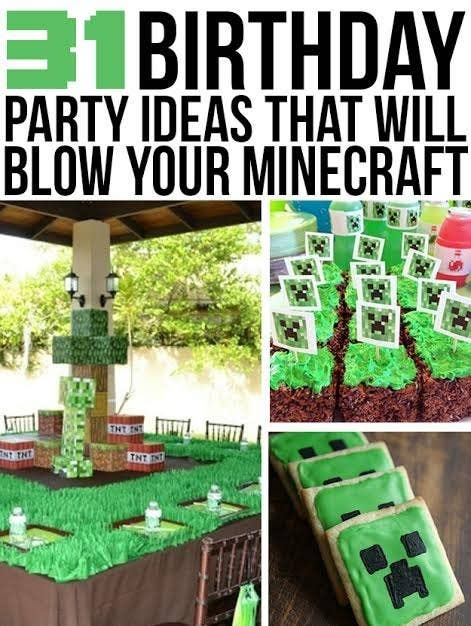 31 diy birthday party ideas that will blow your minecraft share on facebook share solutioingenieria Images