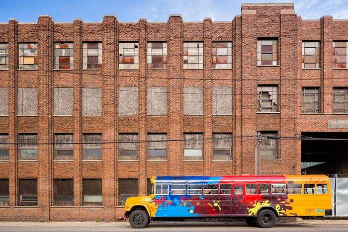 After the long-awaited M-1 rail system was momentarily placed on hold, entrepreneur and Detroit native Andy Didorosi knew what the Detroit residents needed. He began renovating old busses and employing local drivers and mechanics, providing people with charter bus service and tours of Detroit. Best of all, free rides are given to children to get home safely from after-school programs — and their innovative tracker system even influenced the Detroit bus system to start using the feature on their busses.