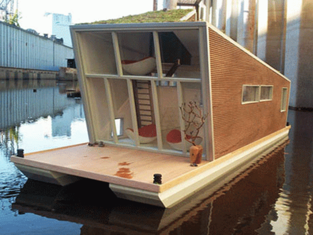 28 houseboats that will make you want to float away - Floating prefabricated home ...