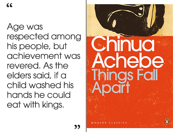 a recount of patriarchal society in chinua achedes novel things fall apart Free essay: gender relations in chinua achebe's things fall apart in chinua achebe's novel things fall apart, the ibo people's patriarchal society has a.