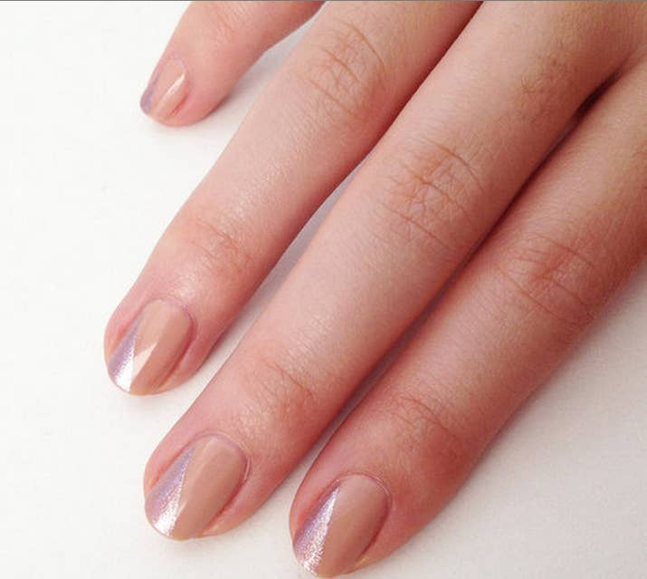 20 diy nail tutorials you need to try this fall an easy way to upgrade the standard nude nail directions here solutioingenieria Choice Image