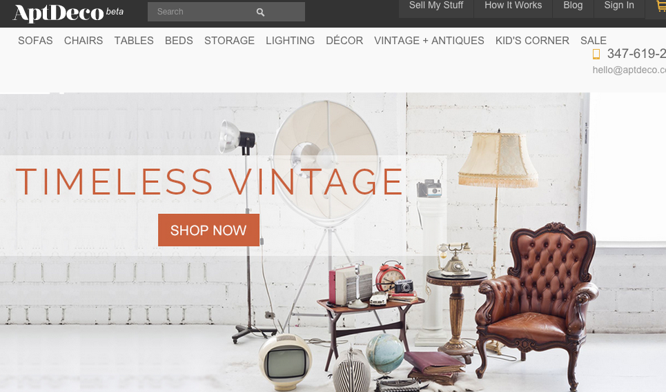 Beau AptDeco Is A New Used Furniture Platform Based In New York City That Takes  Much Of