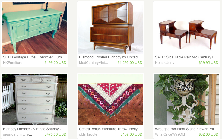 In addition to Mason jar cocktail shakers and Game of Thrones embroidery s&lers Etsy is & 9 Websites To Buy And Sell Used Furniture That Aren\u0027t Craigslist