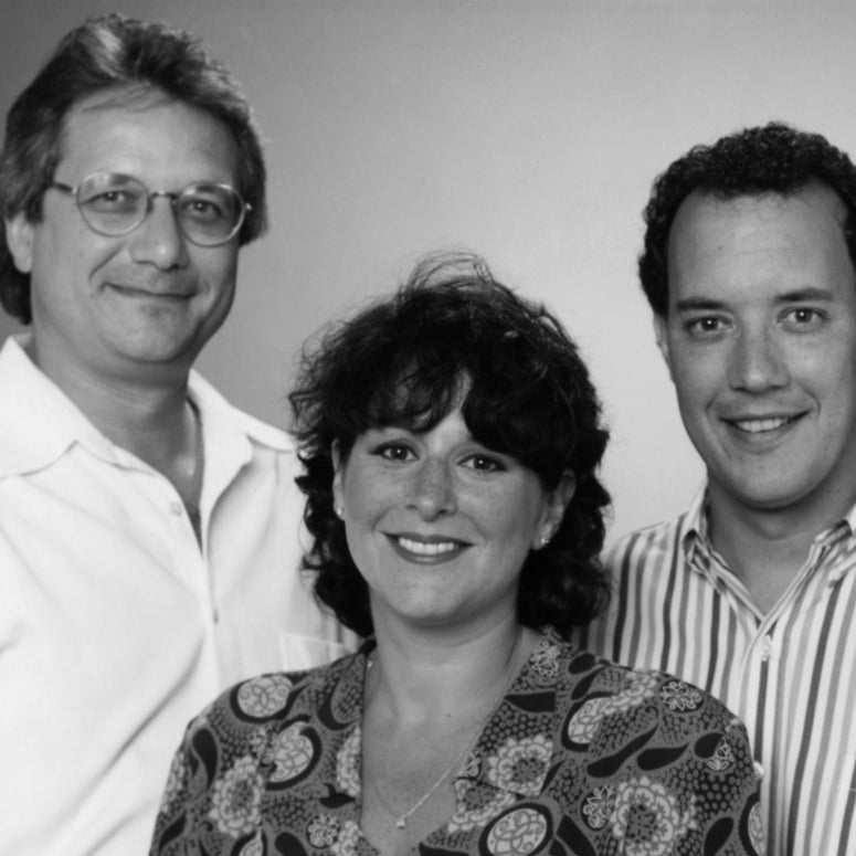 Friends creators/executive producers (from left) Kevin S. Bright, Marta Kauffman, David Crane