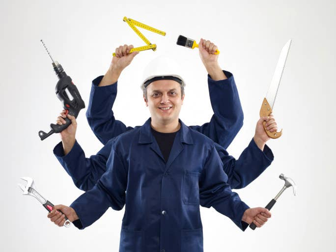 "Some contractors are like gods—Hindu gods, that is, because apparently they need six arms to do all the extra work hapless DIYers like you keep asking them to do.P.S. Did you see our breakdown of how to actually do all the ""Handy"" DIY stuff from Weird Al's music video?"
