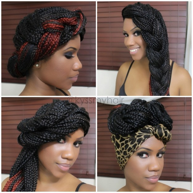 Astounding 21 Awesome Ways To Style Your Box Braids And Locs Short Hairstyles For Black Women Fulllsitofus