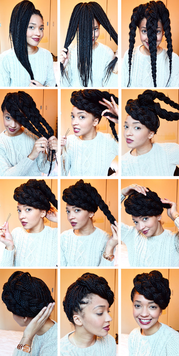 Enjoyable 21 Awesome Ways To Style Your Box Braids And Locs Short Hairstyles For Black Women Fulllsitofus