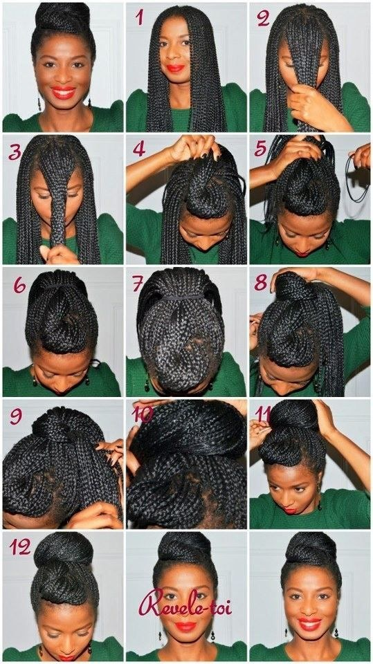 Wondrous How To Do Updos With Box Braids Braids Short Hairstyles For Black Women Fulllsitofus