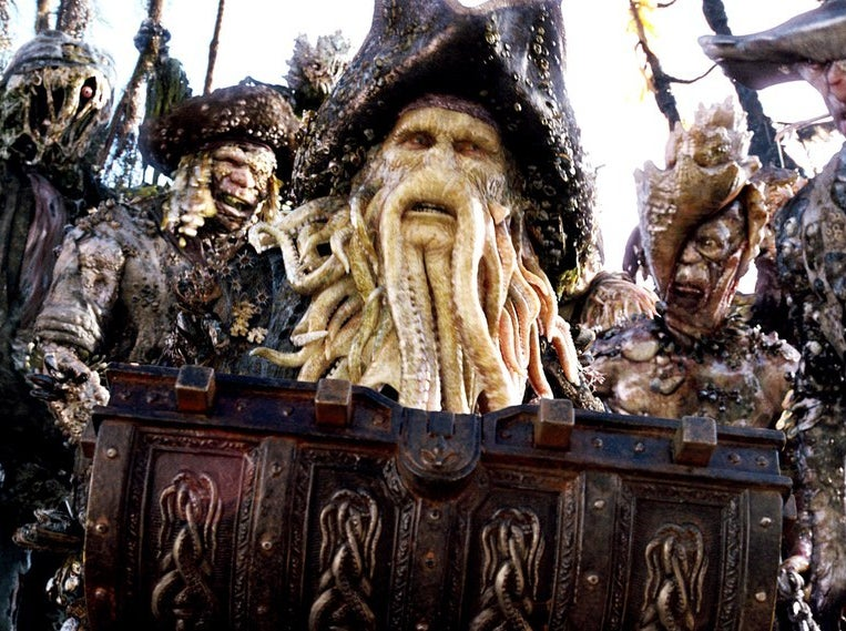 The final version of Bill Nighy's character Davy Jones…