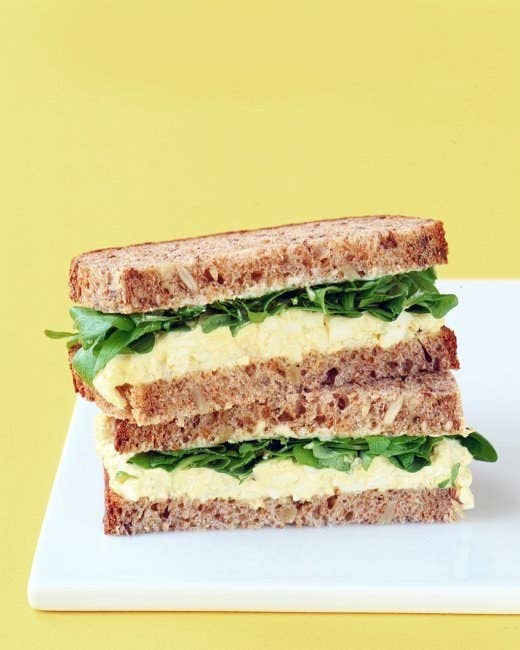 There are tons of variations on egg salad, but this classic version is a great starter recipe. You can also make it with Greek yogurt and/or avocado. Spread it on some toast and voila! Lunch.