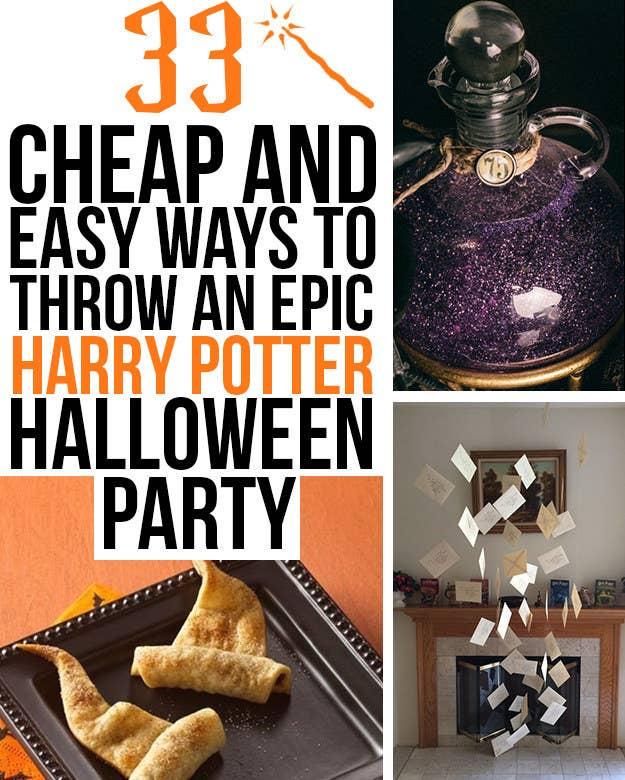 33 cheap and easy ways to throw an epic harry potter halloween party potion wizard hats invitations solutioingenieria Image collections