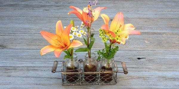 Utiliser un mélange de café et de terre prolongera la vie de vos fleurs coupées, et agira également comme un assainisseur d'air naturel pour toute la pièce. Instructions ici.