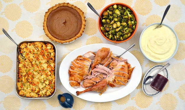 Not to mention the fact that the turkey is usually served on an enormous turkey platter, which is hard to store and easy to break and useless for 11 months of the year.
