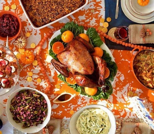 Like, an obnoxious amount of space. Hardly anyone has enough room on their dining table for a turkey and half a dozen sides, and that's not even taking into account the fact that you probably have to find room to actually eat on said table.