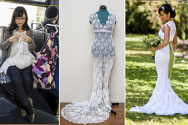 This woman made an amazing wedding dress for 30 junglespirit Images