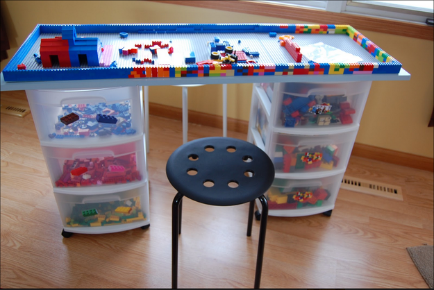 You know what else is awesome? This Lego table!
