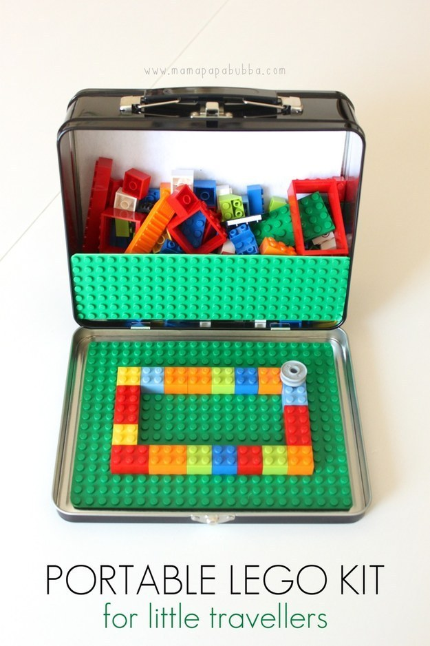 Turn travel into a blast with this portable Lego kit.