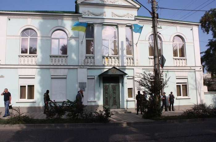 FSB officers raided the Mejlis' office in Simferopol, Crimea on Sep. 16. The group was evicted a day later.