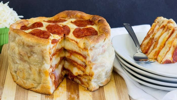 The pizza-cake craze started when a Canadian pizza chain made a version of a pizza cake. And a brave redditor then created her own cake as well.