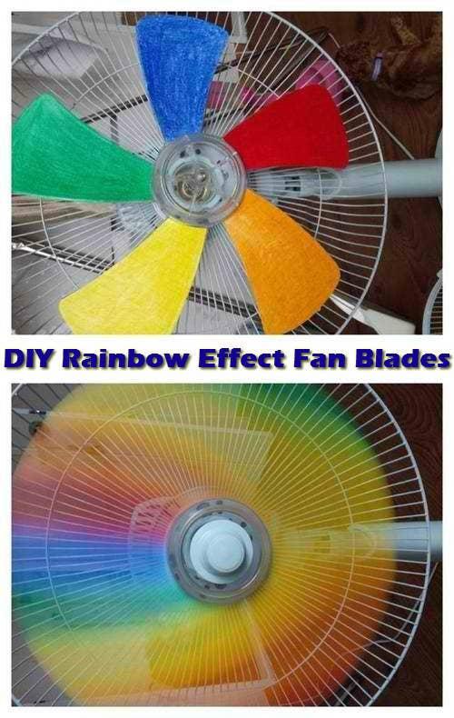 8 Turn A Regular Fan Into An Amazing Rainbow One