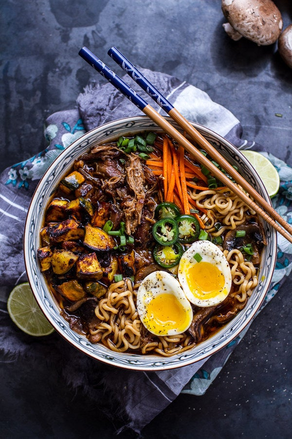 Making ramen is hard work. Good thing your crockpot can do it for you. Recipe here.
