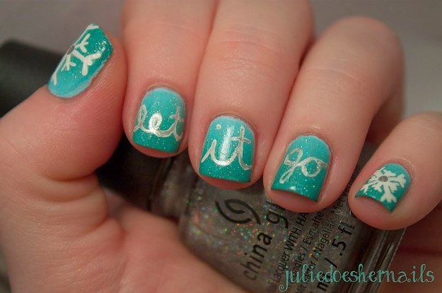 17 pieces of amazing frozen nail art prinsesfo Images