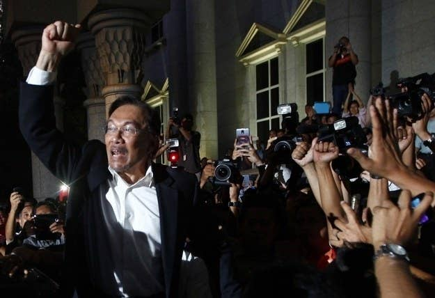 Malaysia's government has used homophobia as a political tool. Pictured is opposition leader Anwar Ibrahim, who has been jailed on charges of sodomy.