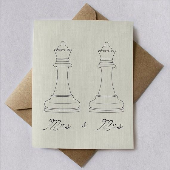 This one shows two queen chess pieces. <3