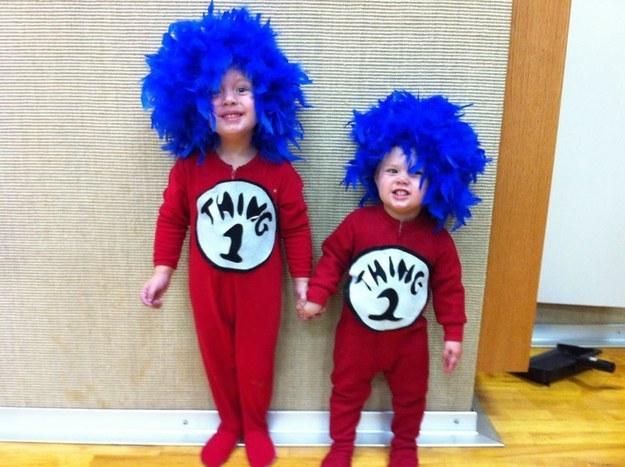 Thing 1 Costume For Kids Meningrey