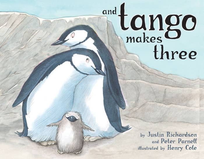 """What is so offensive about a kids' picture book about penguin parents? Welllll, those penguin parents happen to be the same sex, which, according to Wikipedia, set off the alarm of many social conservatives in the US. So much so apparently that """"the American Library Association reports that And Tango Makes Three was the most challenged book of 2006, 2007, and 2008."""" Wowza."""