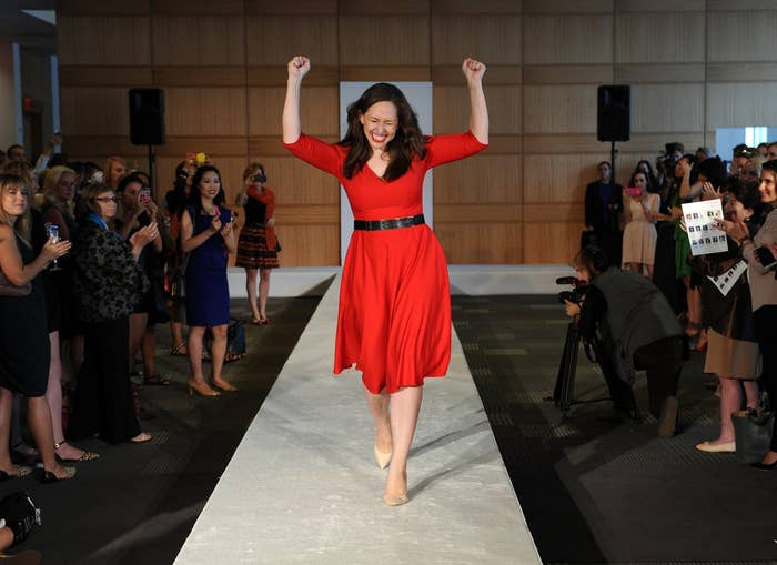 """Her efforts aren't just focused on the design aspect; in her runway shows, she started a campaign to use """"Role Models Not Runway Models,"""" including accomplished women of different sizes and abilities with empowering stories."""