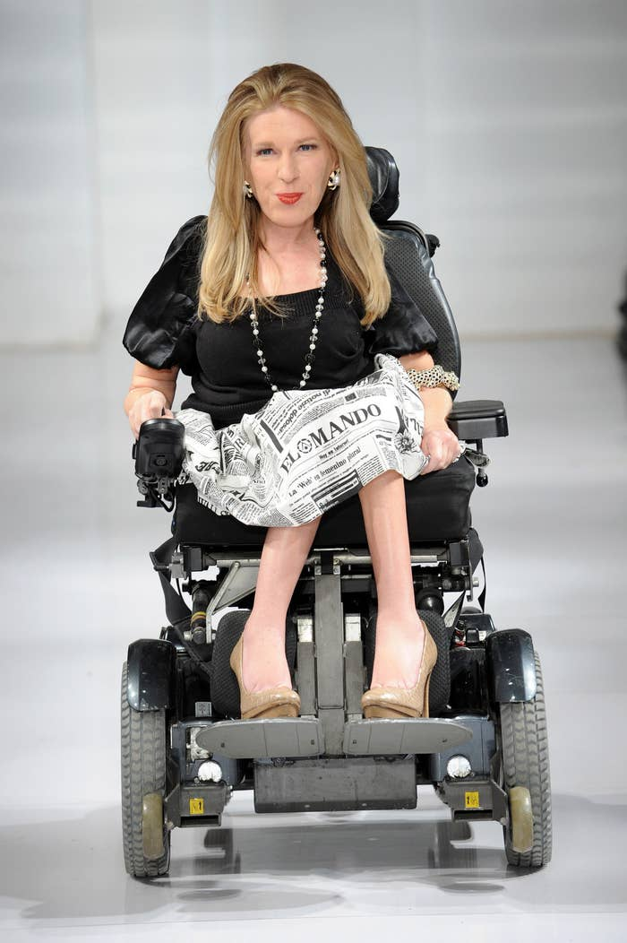 """""""I was so thrilled and moved that a designer welcomed someone with a disability on the runway,"""" Crespo wrote. """"You don't see that often, and I hope it really opens doors for people with disabilities. Beauty comes in all shapes and sizes — there's absolutely no right or wrong."""""""