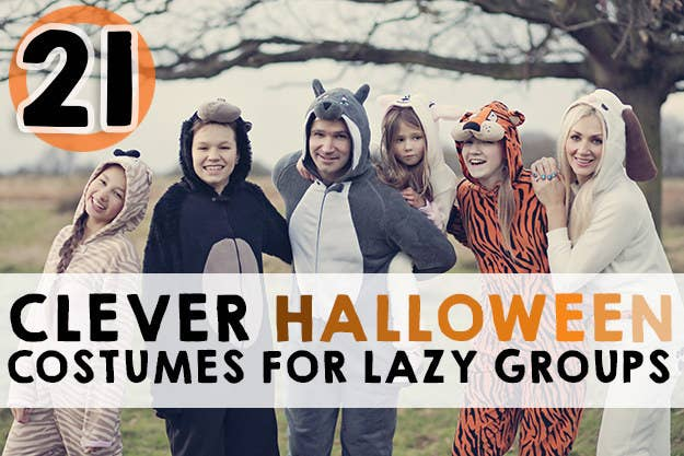 Large Group Halloween Costume Ideas.21 Clever Halloween Costumes For Lazy Groups