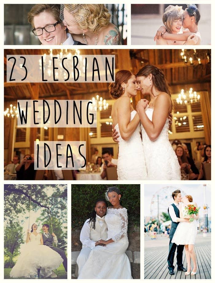 4d7be3afdb13 23 Super Cute Lesbian Wedding Ideas